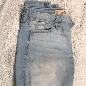 Light blue, long, skinny, jeans
